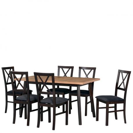 Rozkládací stůl se 6 židlemi - AL78