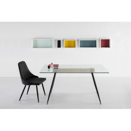 Stůl se skleněnou deskou Tempo 12136