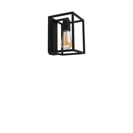 Nástěnná lampa průmyslového stylu Crate Black 9046