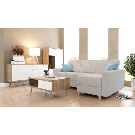 Obývací stěna Prime VII + Rohová sedací souprava Bary