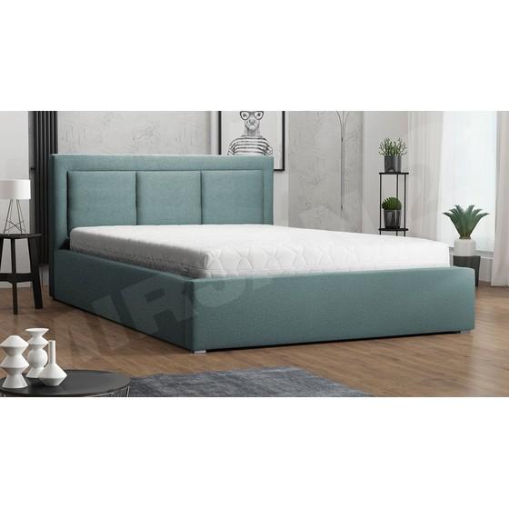 Čalouněná postel s úložným prostorem a roštem Koay