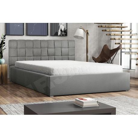 Čalouněná postel s úložným prostorem a roštem Kinec
