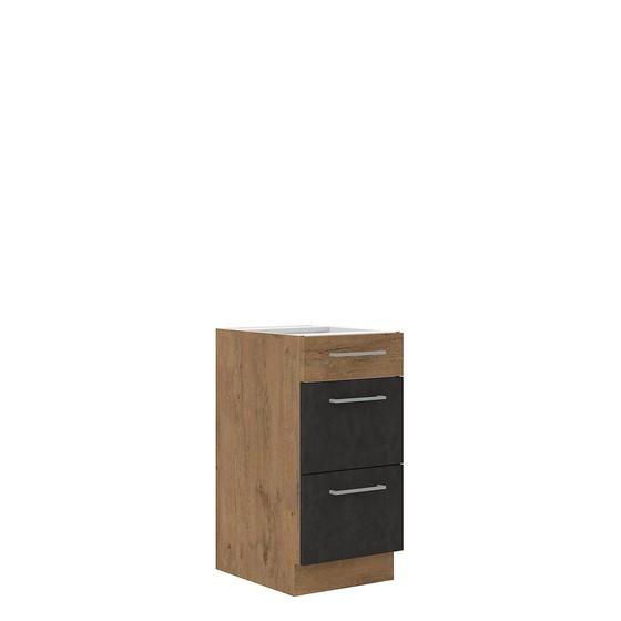 Spodní kuchyňská skříňka se zásuvkami Woodline 40 D 3S BB