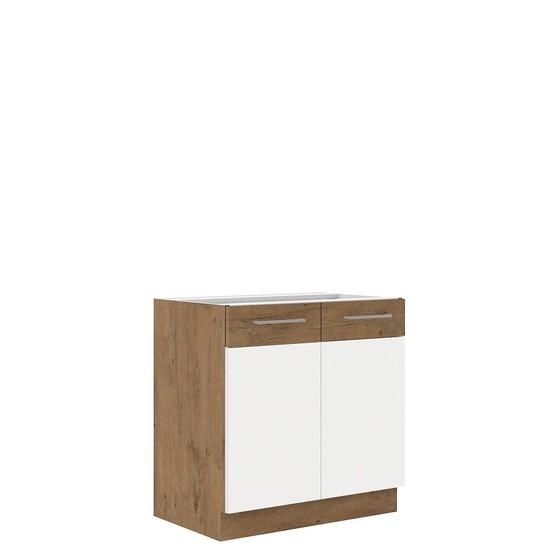 Kuchyňská skříňka pod dřez Woodline 80 ZL 2F BB