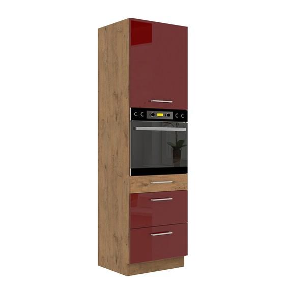 Kuchyňská skříňka se zásuvkami Woodline 60 DPS-210 3S 1F