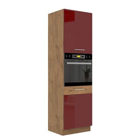 Vysoká kuchyňská skříňka pod troubou Woodline 60 DP-210 2F
