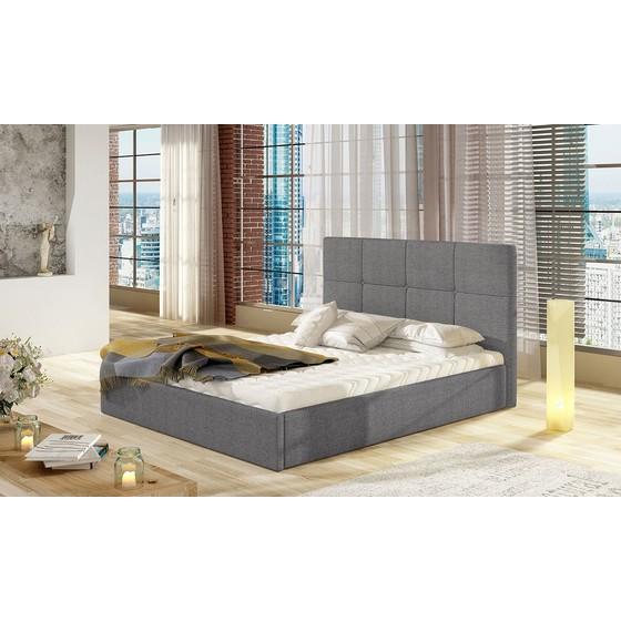 Čalouněná postel Allatessa s úložním prostorem