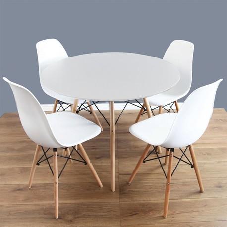 Larry kulatý stůl + 4x židle Betty