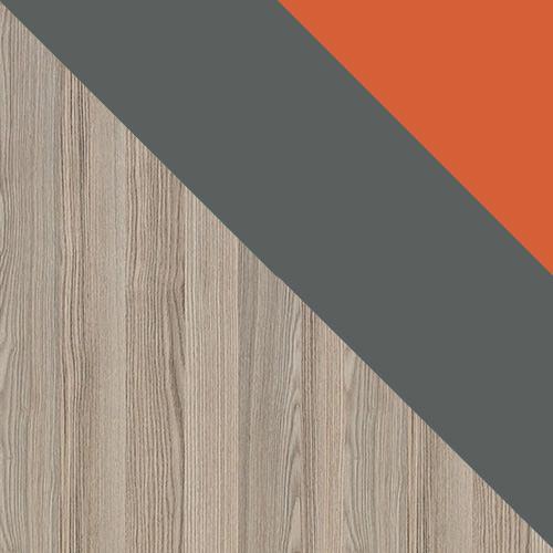 popel coinbra tmavý / antracit + oranžová