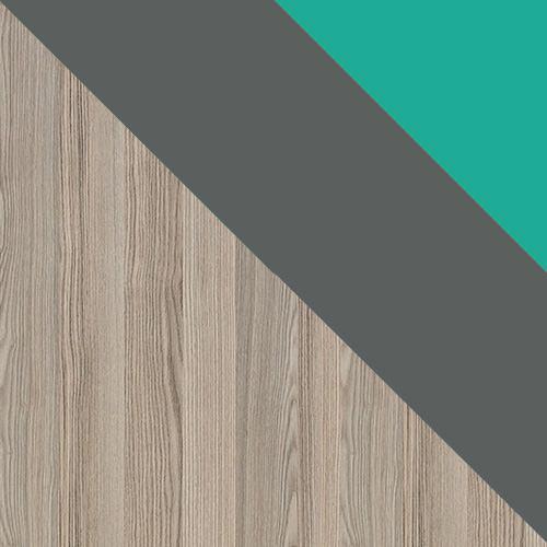 popel coinbra tmavý / antracit + zelená