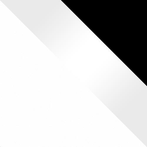 bílý mat / bílý lesk - černé rámy