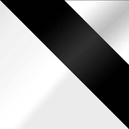 bílá / černé sklo + bílé sklo