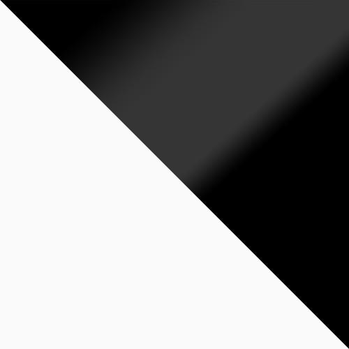 bílá / černý lesk
