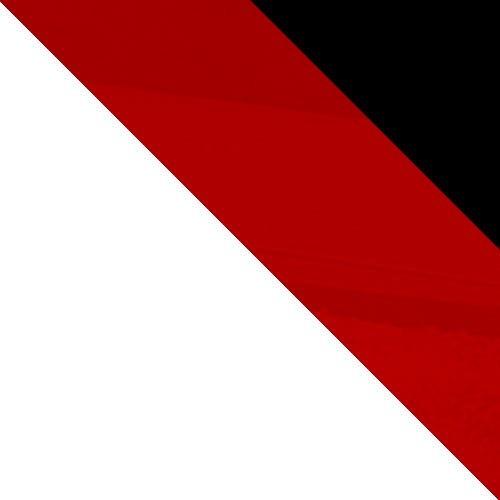bílá / červený lesk + černý lesk