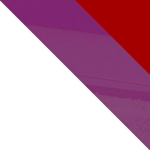 bílá / červený lesk + fialový lesk